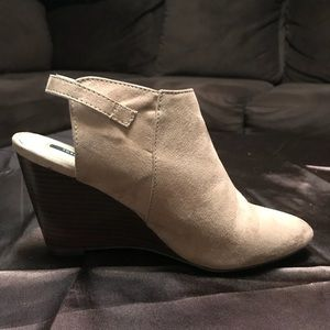 Forever 21 wedged booties